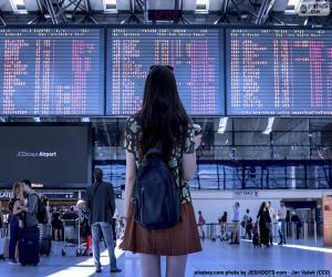 Puzle Painel de informações do Aeroporto