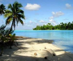 Puzle Paisagem de uma ilha tropical