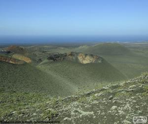 Puzle Paisagem vulcânica, Lanzarote
