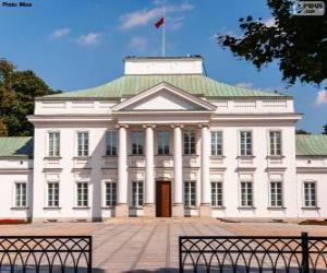 Puzle Palácio Belweder, Varsóvia, Polónia