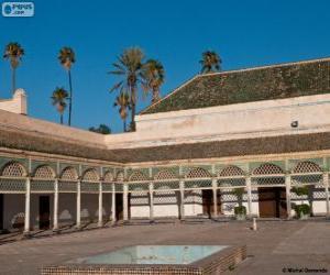 Puzle Palácio da Bahia, Marraquexe, Marrocos