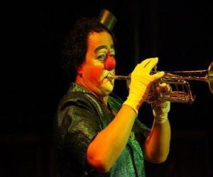 Puzle Palhaço tocar trombeta