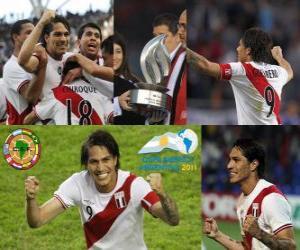 Puzle Paolo Guerrero artilheiro da Copa América 2011