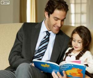 Puzle Papa, ajudando a leitura para sua filha