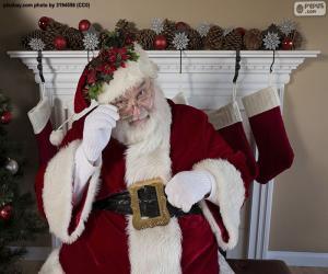 Puzle Papai Noel, chaminé