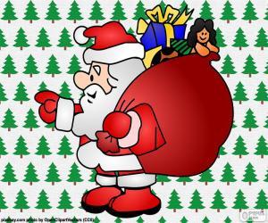 Puzle Papai Noel, desenho