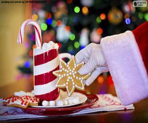 Puzle Papai Noel e doces