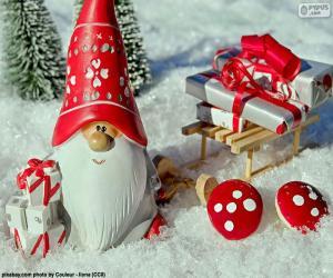 Puzle Papai Noel, enfeite de Natal
