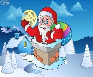 Puzle Papai Noel na chaminé