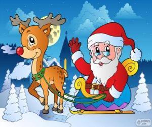 Puzle Papai Noel no trenó