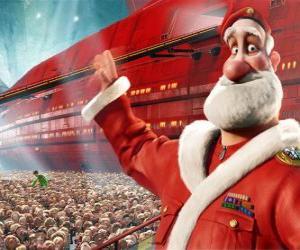 Puzle Papai Noel ou Pai Natal, o pai de Arthur Christmas