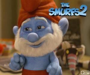 Puzle Papai Smurf, líder dos Smurfs