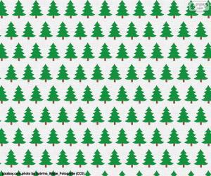 Puzle Papel árvores de Natal