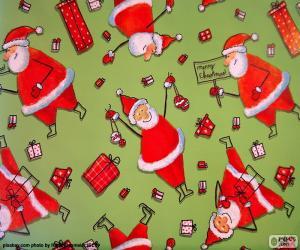 Puzle Papel de Papai Noel