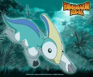 Puzle Paris, Parapara. Dinossauro Parasaurolophus, possuído por Zoe do Equipe-D