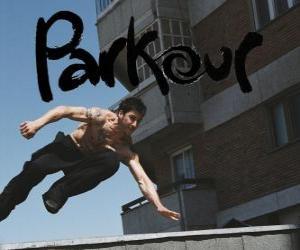 Puzle Parkour é uma disciplina ou filosofia é passar de um ponto a outro tão bem quanto possível