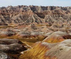 Puzle Parque Nacional Badlands, Estados Unidos da América