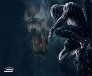 Puzle Partes Spiderman Venom com muitas das suas competências e habilidades