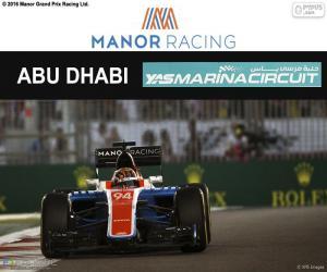 Puzle Pascal Wehrlein, GP Abu Dhabi 2016