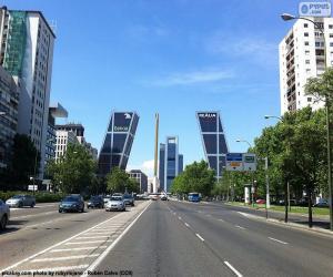 Puzle Paseo de la Castellana, Madrid
