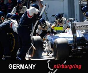 Puzle Pastor Maldonado - Williams - Nürburgring, 2013