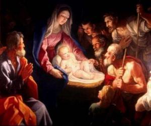 Puzle Pastores adorando Jesus