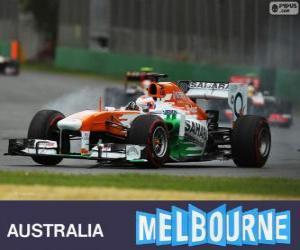 Puzle Paul di Resta - Force India - Melbourne 2013