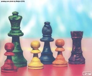 Puzle Peças de xadrez