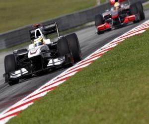 Puzle Pedro de la Rosa - BMW Sauber - Sepang 2010