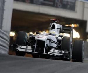 Puzle Pedro de la Rosa BMW Sauber - - Monte Carlo de 2010