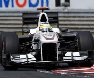 Puzle Pedro de la Rosa - Sauber - Grande Prêmio da Hungria 2010