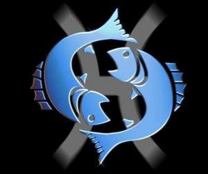 Puzle Peixes. Décimo segundo signo do zodíaco. O nome em latim é Pisces