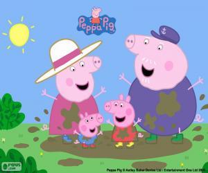 Puzle Peppa Pig com os avós