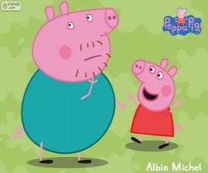 Puzle Peppa Pig com seu pai