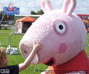 Puzle Peppa Pig com uma criança