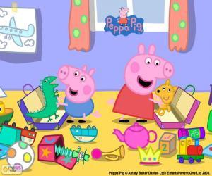 Puzle Peppa Pig e George