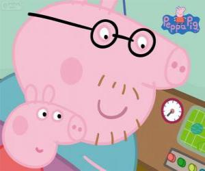 Puzle Peppa Pig e o pai dela