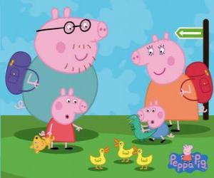 Peppa Pig e sua família