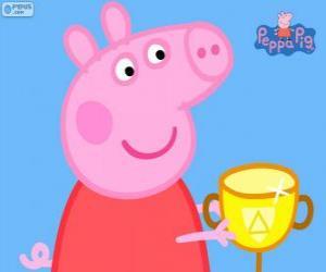 Peppa Pig ganha uma taça
