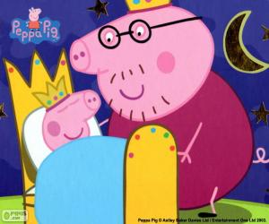Puzle Peppa Pig na cama dela