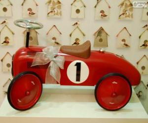Puzle Pequeno carro de brinquedo para o Natal