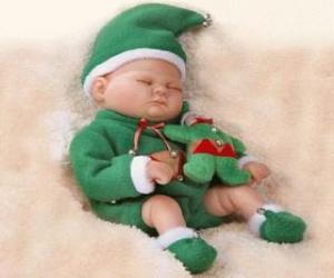 Puzle Pequeno duende dormindo