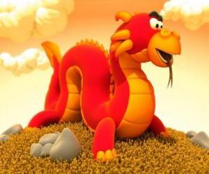 Puzle Pequeno e engraçado dragão