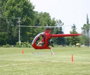 Puzle Pequeno helicoptero com piloto