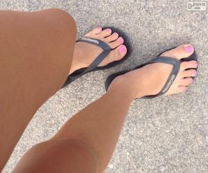 Puzle Pernas e pés