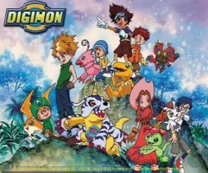 Puzle Personagens Digimon