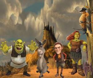 Puzle Personagens, no mais recente filme Shrek para Sempre