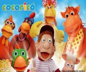Puzle Personagens principais da fazenda Cocoricó