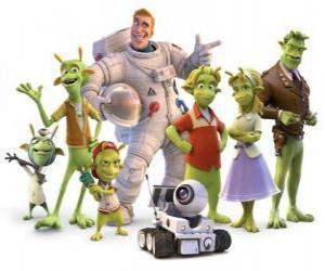 Puzle Personagens Principais do Planet 51