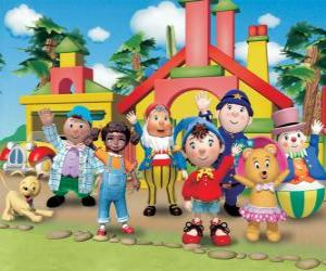 Puzle Personagens principais do Noddy